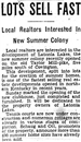 Historical Latonia Lakes Newspaper Clipping 4