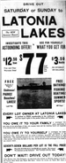 Historical Latonia Lakes Newspaper Clipping 1
