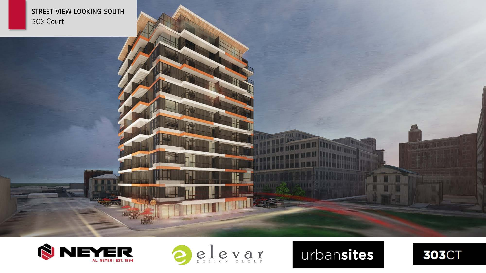 Updated 303 Court Street Design Rendering - Street View Looking South
