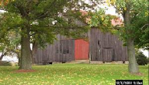 Red Roofed Barn in Kenton