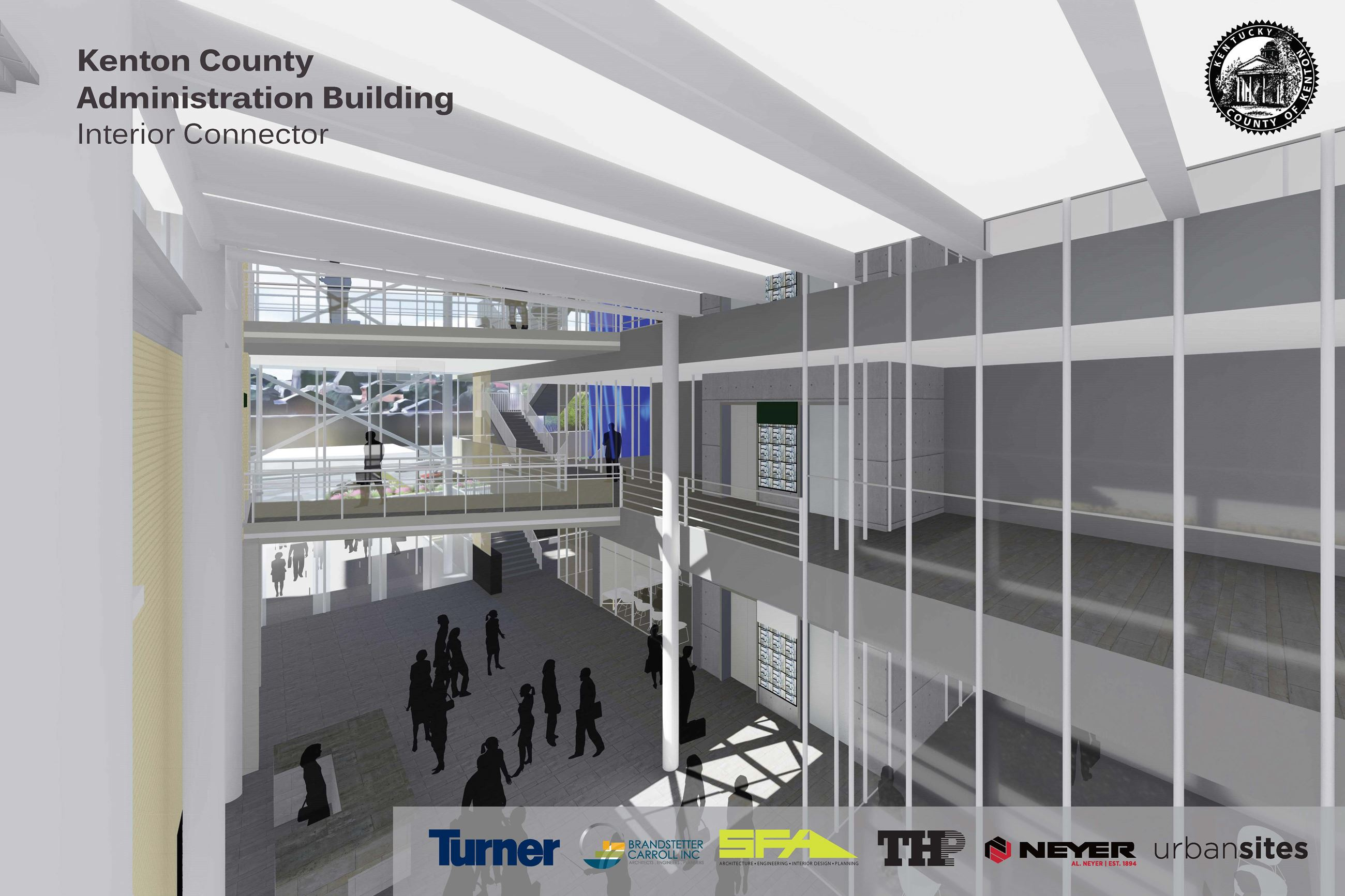 Administration Building Design Rendering - Interior Connector