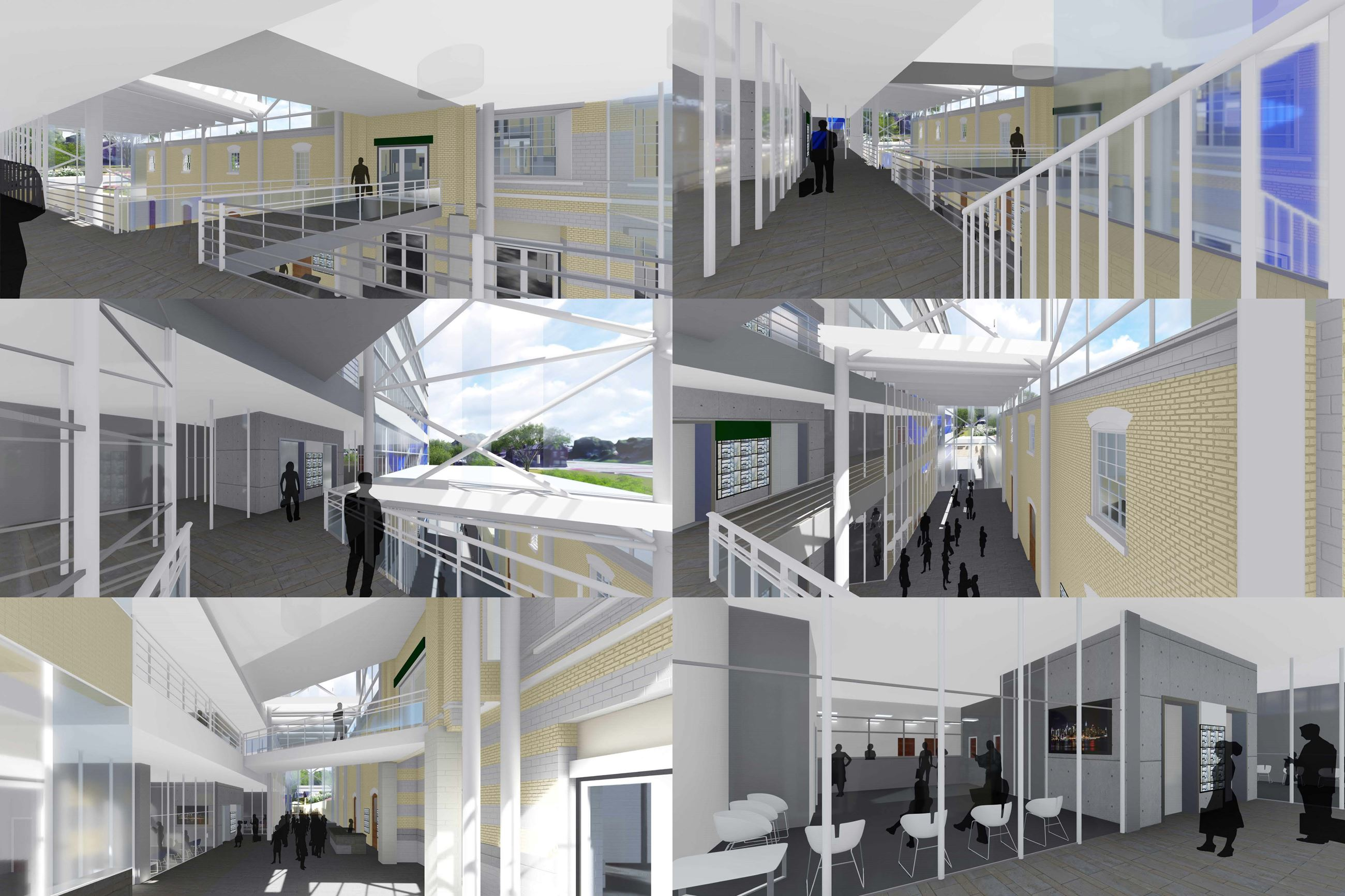 Administration Building Design Rendering - Interior Views